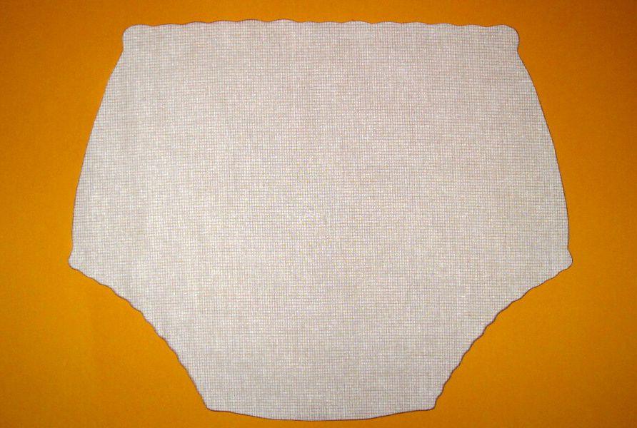 Ochranné inkontinenční kalhotky POLY DUO nízké - 15.jemné plátno žluté drobné čtverečky In-Tex