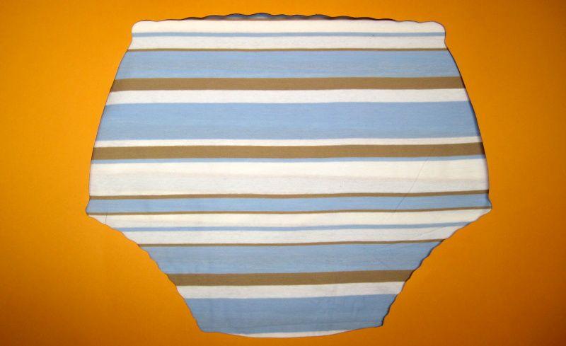 Ochranné inkontinenční kalhotky POLY DUO nízké - 16.úplet s pruhy In-Tex