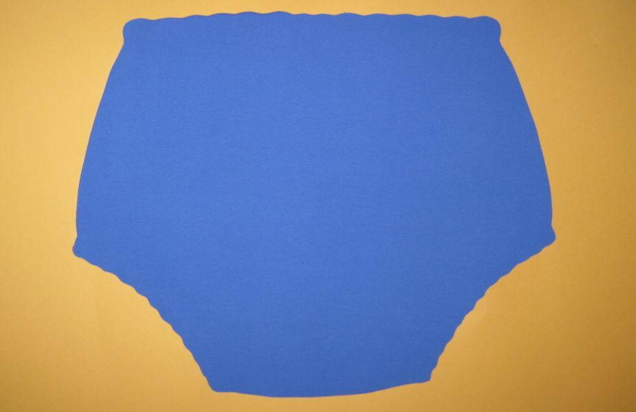 Ochranné inkontinenční kalhotky POLY DUO ZAPÍNACÍ slip - 4.modrá tričkovina In-Tex