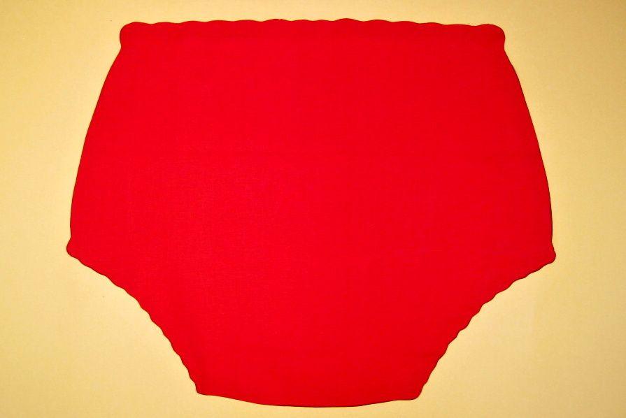 Ochranné inkontinenční kalhotky POLY DUO ZAPÍNACÍ slip - 11.plátno červené In-Tex