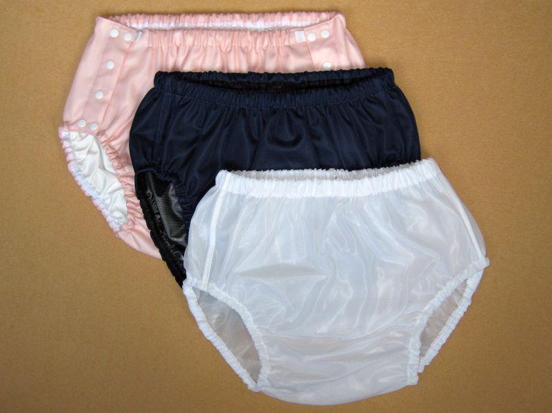 Ochranné inkontinenční kalhotky POLY DUO ZAPÍNACÍ slip - 22.růžový dederon In-Tex