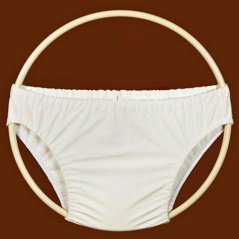 Kalhotky POLY 2G, vel.3 slip, bílé In-Tex