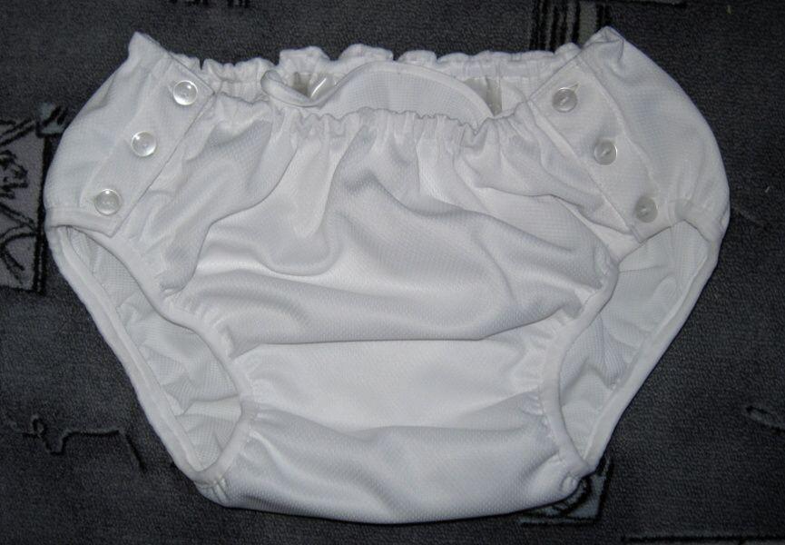 Kalhotky POLY DUO SAN zapínací, vel.0 nízké, bílé In-Tex